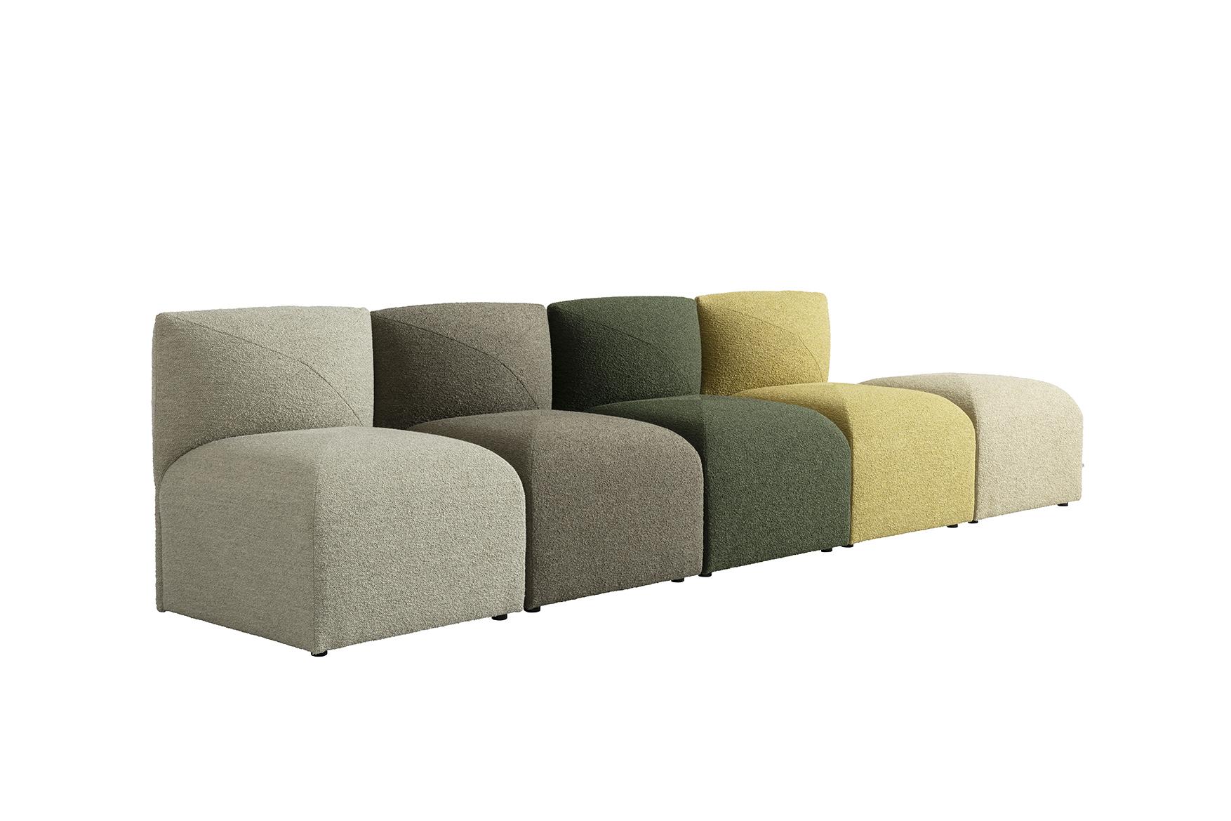 Blob mini modular sofa by Jonas Ihreborn